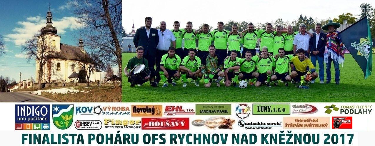 Oficiální stránky klubu TJ Sokol Lukavice – finalista poháru OFS Rychnov nad Kněžnou 2017